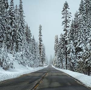 Image of a road in winter