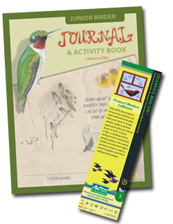 Junior birder guides and Bird Day bookmarks