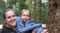 My nature moment, with my son enjoying a walk in the woods.