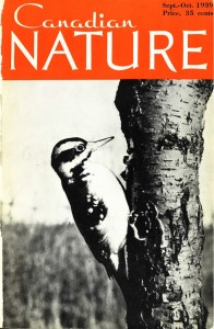 Cover of first issue of Canadian Nature, 1939