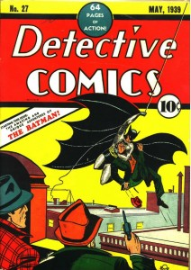 First appearance of Batman cover of Detective Comics #27