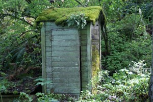 image of an outhouse