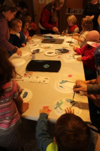 Kids making Buffleheads, Sidney - Oct 17 2015