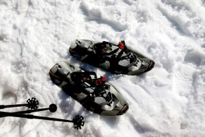 Image of snowshoes in snow