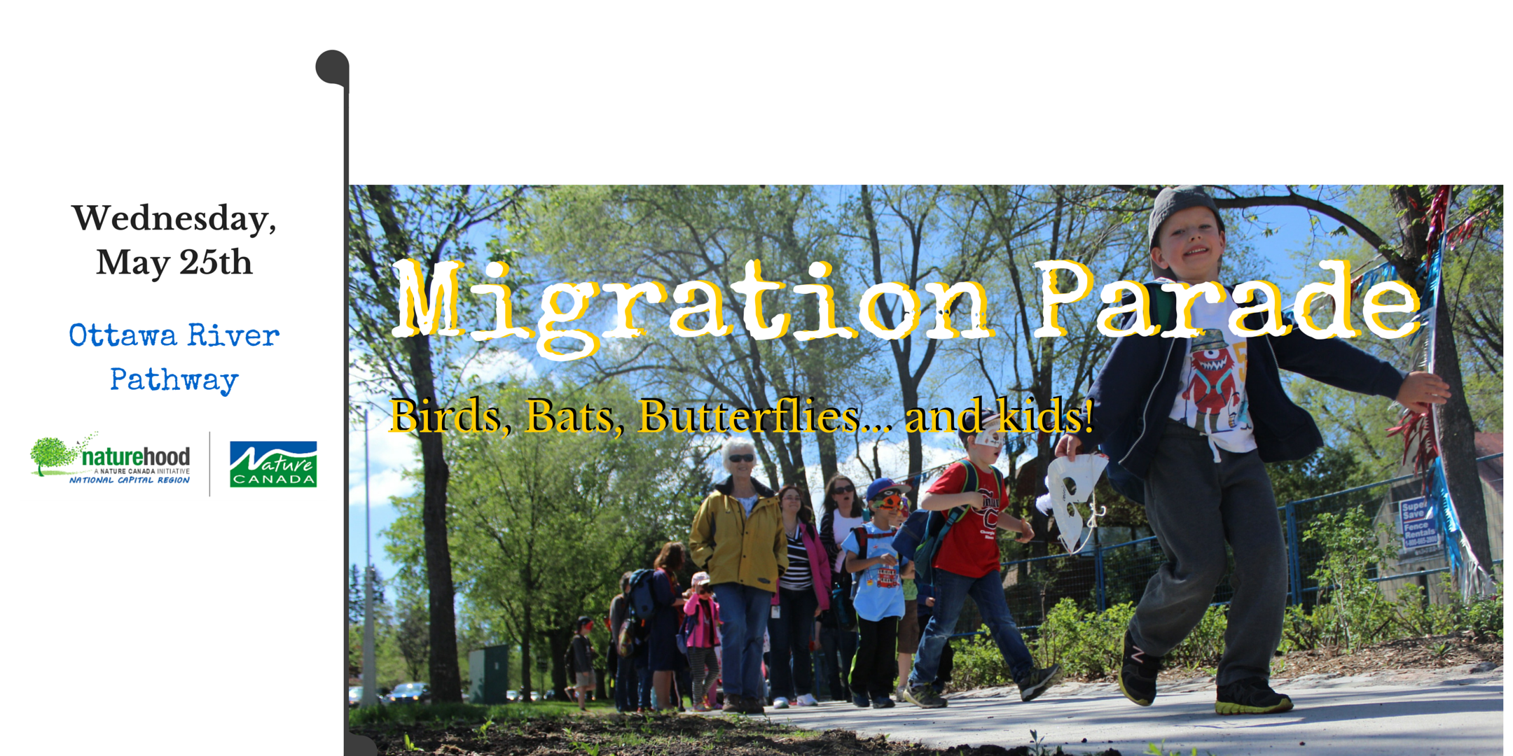 Our 2016 Spring Bird, Bat & Butterfly Migration Parade is coming!