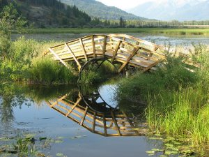 Image of Bridge and reflections at Creston Valley Wildlife Management Area