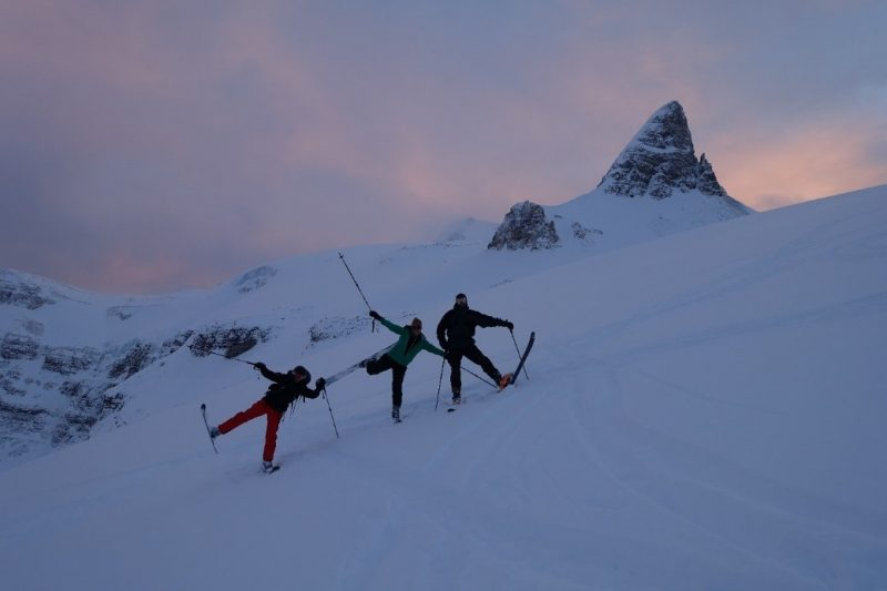 Skiers in Banff National Park