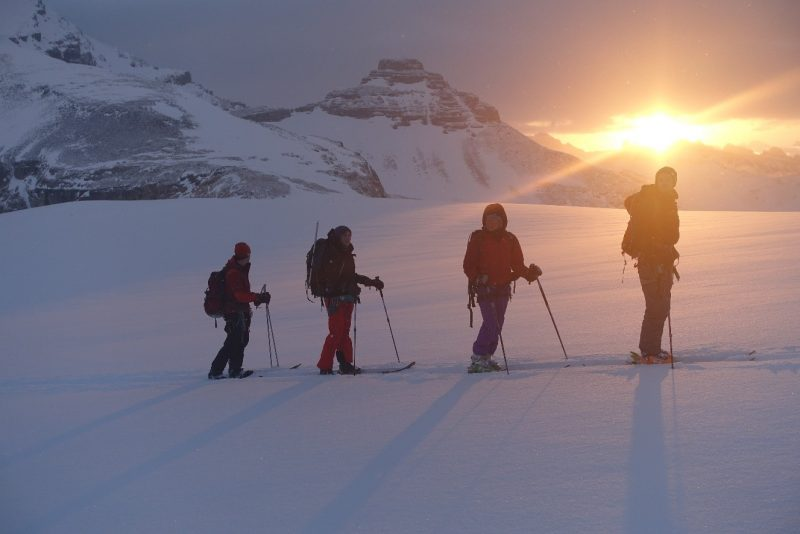Image of Skiers on Wapta Icefield in Banff National Park