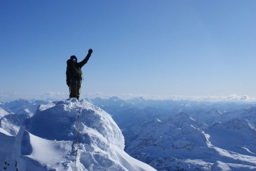 Image of hiker on Mt. Joffre in Kananaskis Country