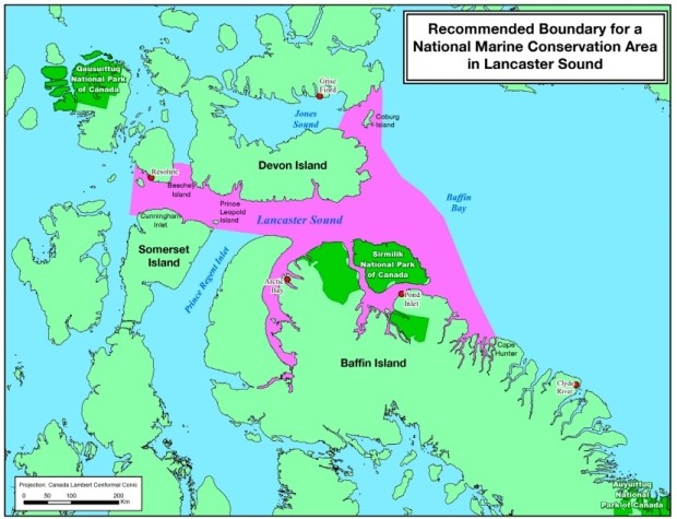 Image recommended boundary for a National Marine Conservation Area